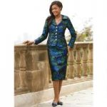 Regal Petals Jacquard Suit by EY Boutique