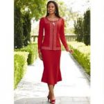 Rhinestone-Trim Knit Suit by EY Boutique