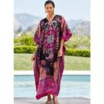 Zerzura Print Silky Long Caftan by EY Signature
