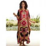 Maharaja Print Silky Long Caftan by EY Signature