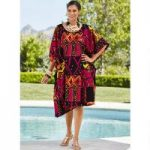 Tango Print Microfiber Short Caftan by EY Signature
