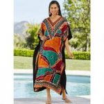 Santa Fe Microfiber Long Caftan by EY Signature