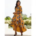 Rich in Print Layered Dress by Studio EY