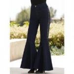Studs 'n' Flare Denim Pant by Studio EY