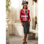 On-Trend Tri-Tone 3-Pc. Suit by Lisa Rene Black Label