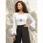 Tipped-Sleeve Top by Studio EY
