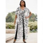 Fluid Lines Overlay Jumpsuit by Studio EY