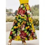 Harvest Floral 5-Yard Maxi Skirt by Studio EY