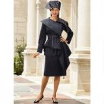 Elegantly Wrapped Rich Knit Suit by Lisa Rene Black Label