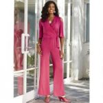 Cold-Shoulder Wrap Jumpsuit by Studio EY