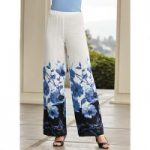 Blooms in Blue Pant by Studio EY
