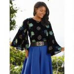 Floral Embroidery Top by Studio EY