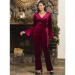 Wrapped in Velvet Jumpsuit by Spense
