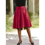 Studded Leatherette Skirt by Studio EY