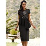 Asymmetric Leatherette Skirt Set by Studio EY
