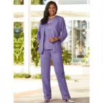Crochet Border 3-Pc. Pantset by EY Boutique