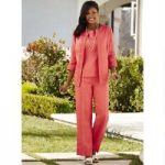 Embroidered Linen 3-Pc. Pantset by EY Boutique