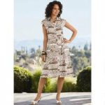 Printed Linen Tie Dress by EY Signature