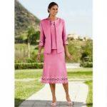 Lattice-Trim 3-Pc. Linen Skirt Set by EY Signature