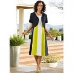 Tricolor Jacket Dress by EY Signature