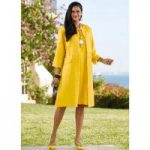 Fringed-Trim Dress and Duster by EY Signature