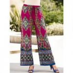 Border-Print Palazzo Pants by Studio EY