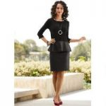 Leatherette Top and Skirt Set by Studio EY