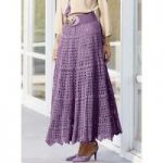 Flared Crochet Maxi Skirt by Studio EY