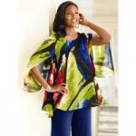 Abstract Chiffon Swing Top by Studio EY