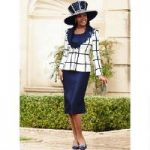 Lace-Trim Windowpane 3-Pc. Suit by Lisa Rene Black Label