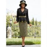 Designer Jacquard Suit by Lisa Rene Black Label