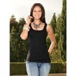 Pucker Knit Tank Top by Luxe Moda by Donna Vinci