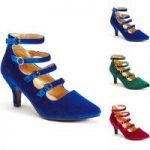 Buckle Up Velvet Pump by EY Boutique