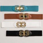 Stone 'n' Gold Stretch Belt by MBT Design