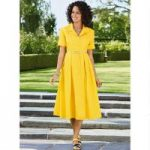 Tailored Fit-and-Flare Dress by EY Boutique
