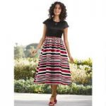 Smart Striped Dress by EY Boutique