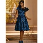 Take a Bow Embossed Dress by EY Boutique