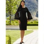 Laser-Sleeve Rich Knit Dress by EY Boutique
