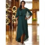 Essence of Elegance Chiffon Dress and Capelette by Le Bos