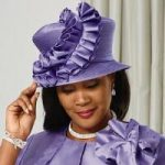 Beautiful Ruffles Church Hat by Luxe EY