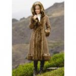 PY Faux-Shearling Long Coat by Luxe EY
