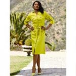 Color Closeout Long-Sleeved Classique Dress by EY Signature