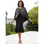 Chic Leatherette Cape and Dress by EY Boutique