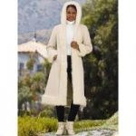 Color Closeout Faux-Shearling Long Coat by Luxe EY