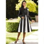 Color Closeout Gore-geous Contrast Jacket Dress by EY Boutique
