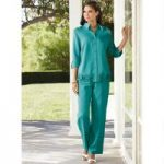 Color Closeout Patio Linen Top and Pantset by EY Signature