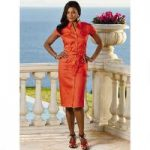 Color Closeout Classique Too Linen Dress by EY Signature