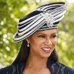Jeweled Trim Church Hat by EY Boutique