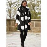 Big on Dots Faux-Fur Coat by Luxe EY