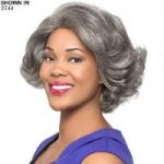 Nori Human Hair Lace Front Wig by Foxy Silver